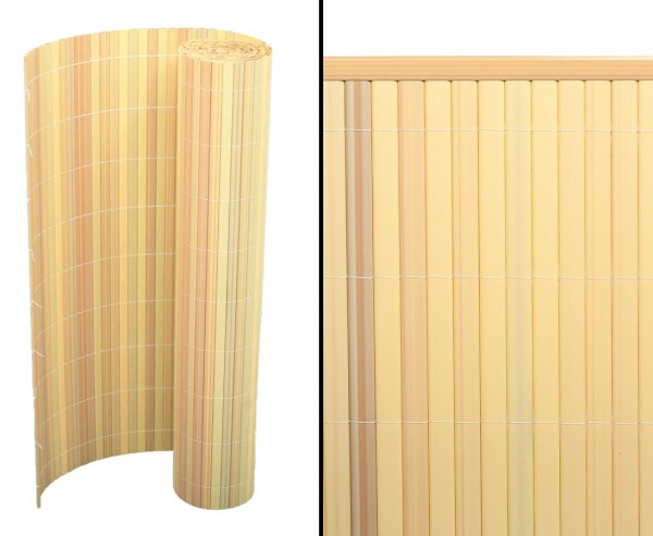 "Balkonverkleidung, ""Sylt"" 90 x 500cm uni-bambus"