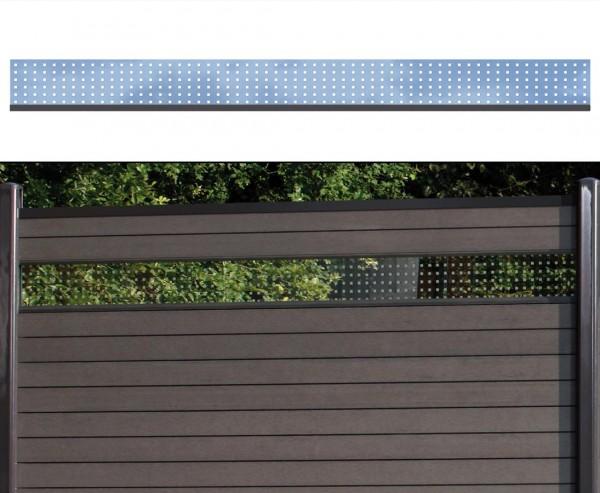 WPC Sichtschutz Glas Streifen flach 15x180cm