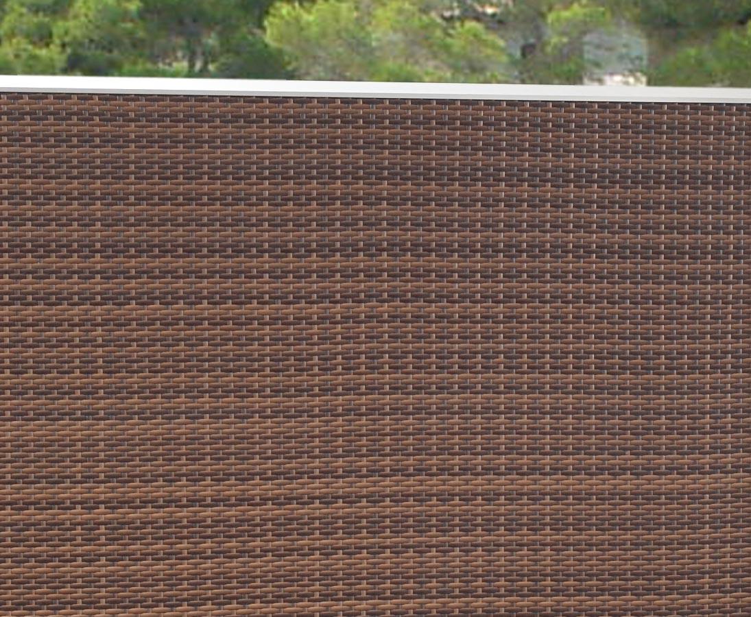 Sichtschutzwand 178x88 Aus Mocca Farbigen Polyrattan Hier Bestellen