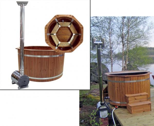 "Hot Tub ""Spezial"" Set1, Holzofen mit Durch. 150cm"