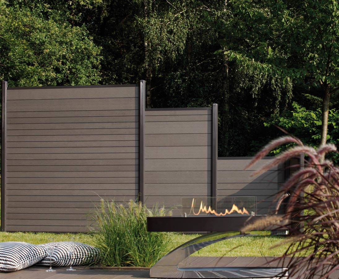 Mit Wpc Profilen Anthrazit Blickdichten Sichtschutz Bauen