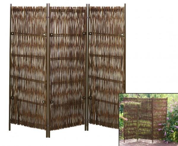 """Raumteiler, """"Skagen"""" 160 x 195cm Weide, 3-teilig"""