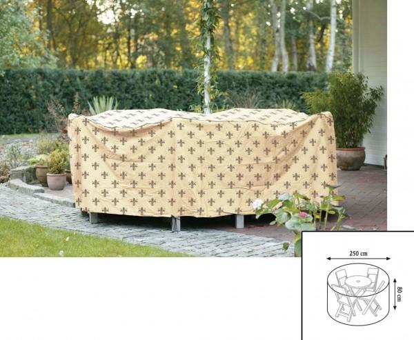 """Abdeckhaube""""Cover"""" Lilie, Tischgruppe rund, mit 80cm und einem Durch. von 250cm, beige"""