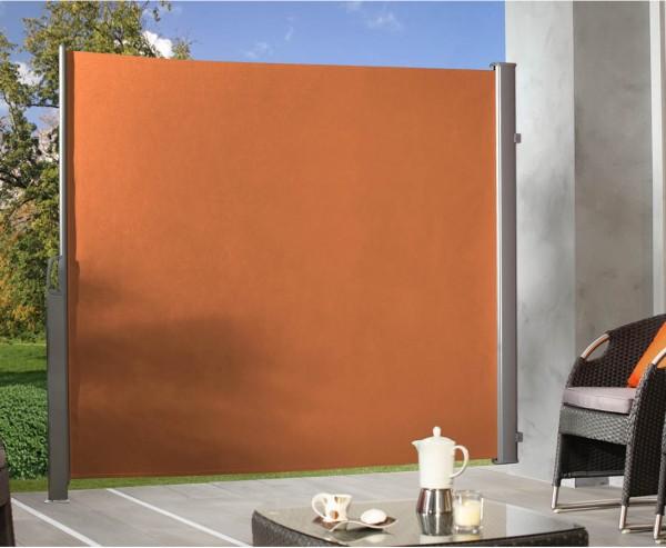 Seitenmarkise terracotta farbig 180x350cm