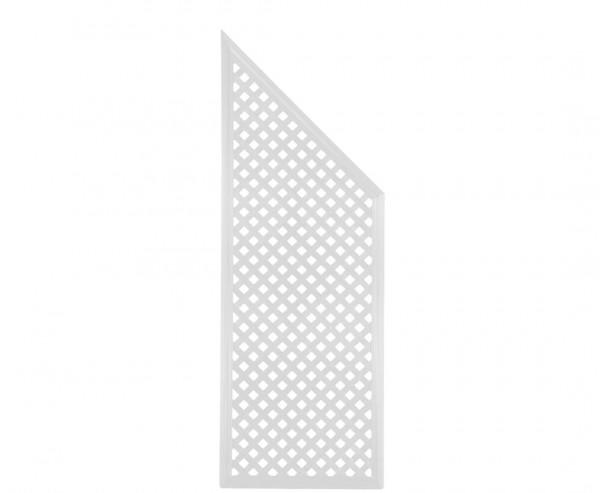 """Terrassen Sichtschutz Coventry """"Diamant"""", Abschlußelement, 185 x 65cm, weiss"""