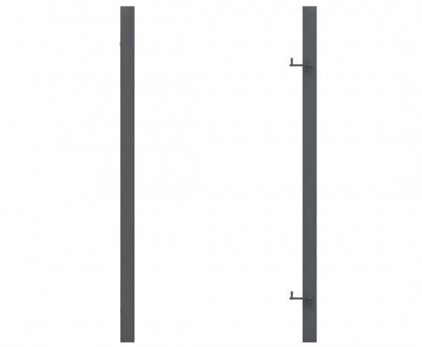 Torpfosten universal verwendbar in Metall verzinkt anthrazit mit 255cm