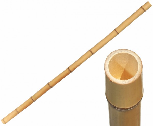 Bambusrohr gelb, Moso Bambus, gebleicht, Durch. 2,8- 3,5cm, Länge 200cm
