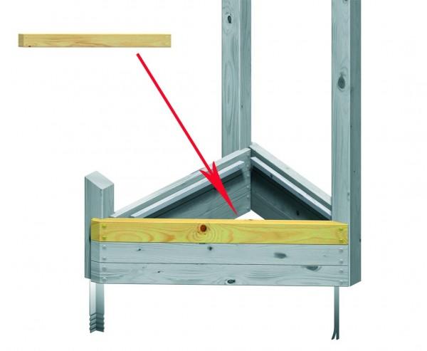 Schrägbalken für Sandkasten Bau, System Piratenturm, 103cm