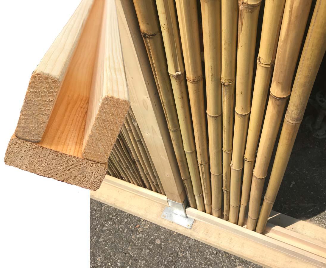 Profilrahmen Fur Bambus Rollzaun 250cm Online Kaufen