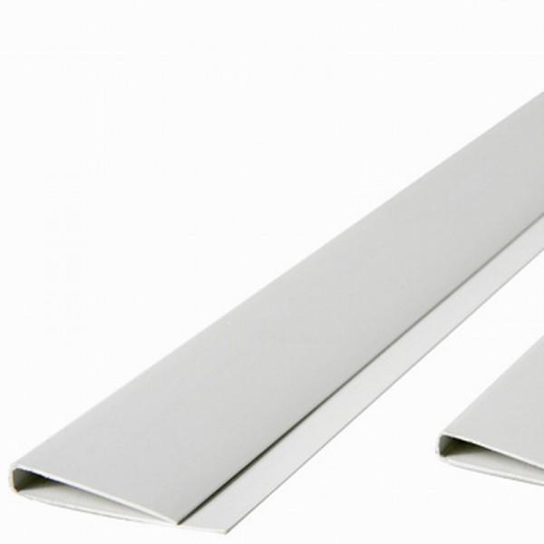 Abdeckprofil für Kunststoffmatten der eco Serie, weiss Länge 200cm