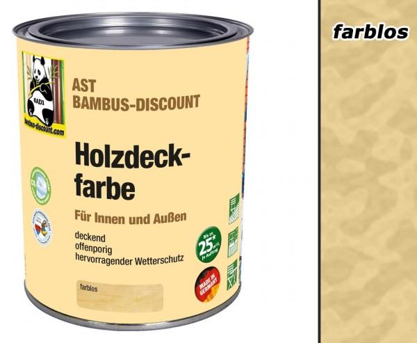 Holzdeckfarbe farblos 0,75 Liter für innen und außen, hervorragender Wetterschutz