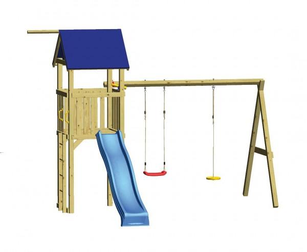 """Spielturm Set """"SWING"""" mit Rutsche und Schaukel"""