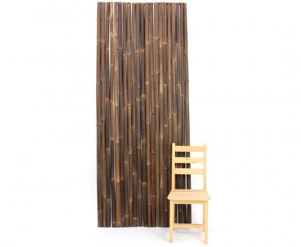 Bambuszäune braun schwarz 100x250cm, Wulung Stangen mit 4-6cm