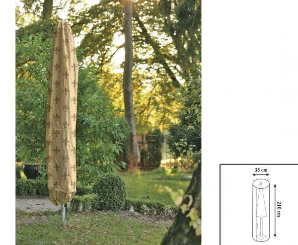"""Abdeckhaube """"Cover"""" Lilie, für Sonnenschirm, mit 210cm und einem Durch. von 35cm, beige"""