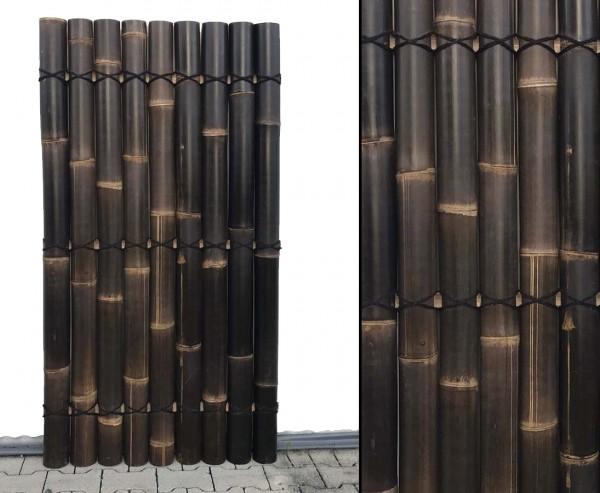 """Bambuselement """"Apas18"""" 180x90cm mit schwarzen halben Bambusrohren Durch. 9 bis 10cm"""