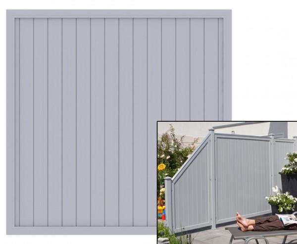 "Sichtschutzzaun grau, ""Longlife Riva, 180 x 180cm aus Kunststoff"
