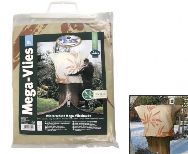 Winterschutz für grosse Pflanzen, Mega Vlieshaube mit Bambus Motiv, H:180 x B:120cm, beige/ ocker