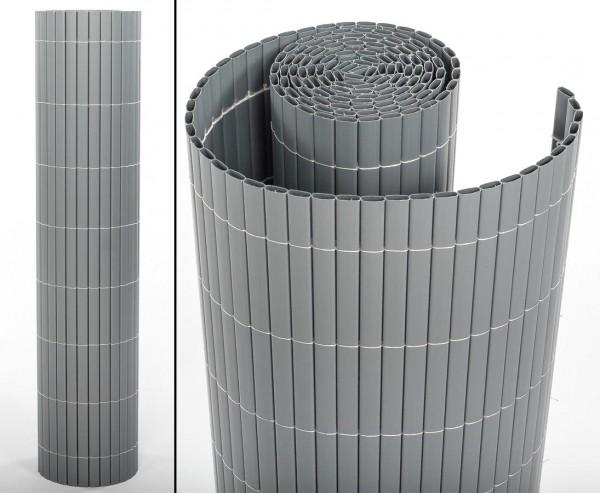 """Kunststoff Sichtschutz, """"Sylt"""" mit 100 x 300cm, aluminium/silber"""