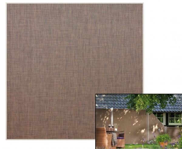 """Sichtschutzwand """"Weave Lüx"""", Textil Bespannung 178 x 178cm, bronze"""