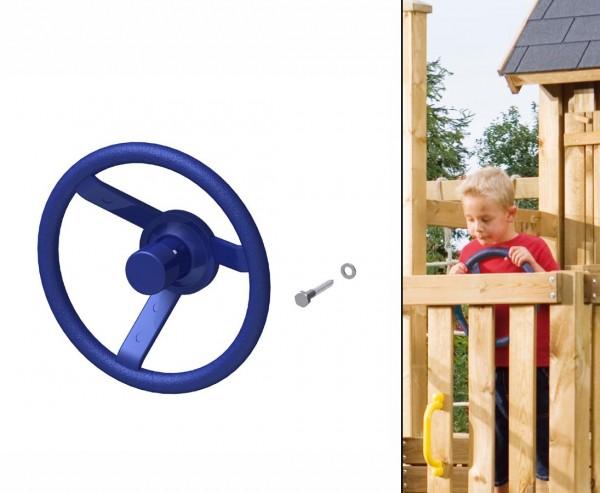 Lenkrad mit Hupe in blau, Durch. 30cm