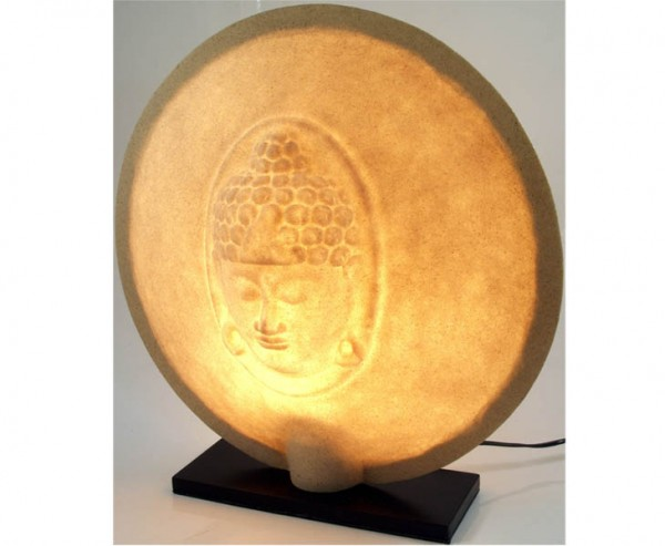 """Tischlampe """"Buddha"""" aus Kunstharz, Höhe 50cm"""