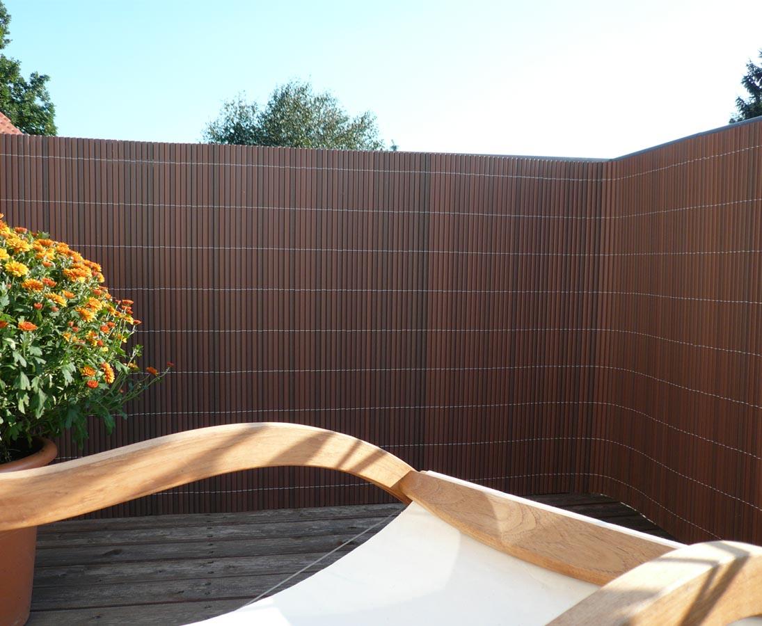 Balkonsichtschutz Pvc Sylt Mit 100 X 300cm Nussbaum Gunstig Kaufen