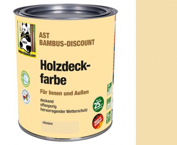 Holzdeckfarbe elfenbein 0,75 Liter für innen und außen, hervorragender Wetterschutz