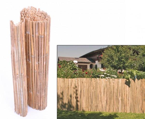 """Sichtschutzmatte aus gespaltenem Bambus """"BEACH"""" 180 x 300cm"""