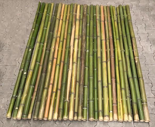 """Bambusmatte Natur grün """"Big Green"""" 180x200cm mit 4 bis 6cm B-Ware"""