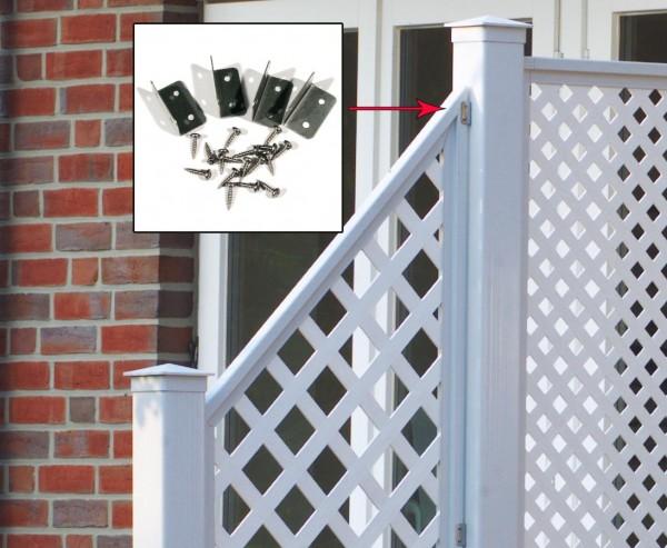 Zubehör Set für Sichtschutzelemente und Pfostenverbindung