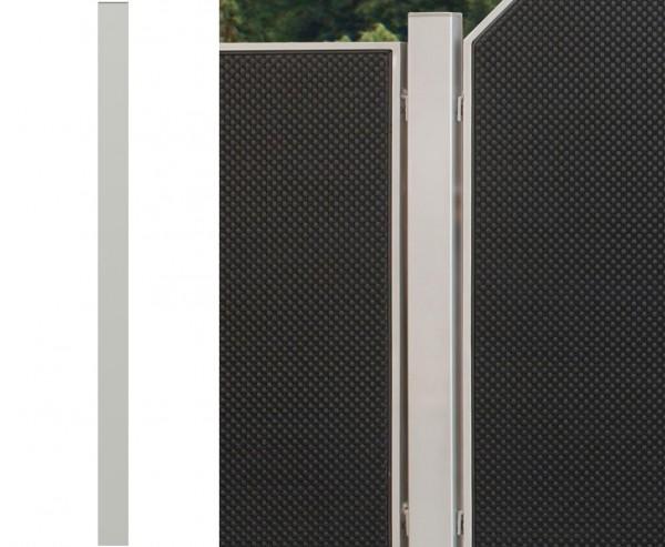 "Zaunpfosten silber ""Weave"", 150cm"