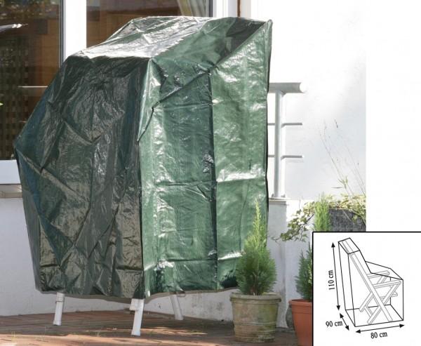 Schutzhülle für Gartenstühle grün, PE Material, L:80cm x B:90cm und Höhe 110cm