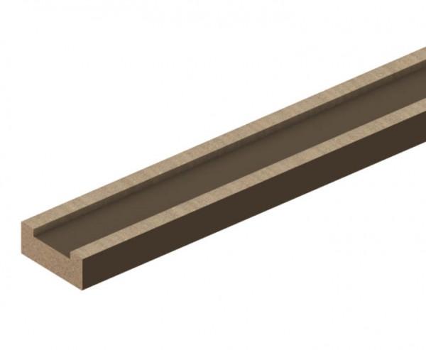 WPC Terrassen Dielen UK universal 300cm, Leiste mit 5x2cm