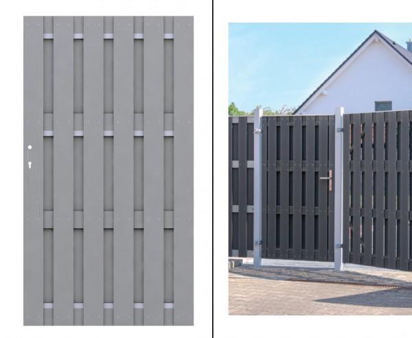 Gartentür, für Sichtschutzzaun grau 179x98cm