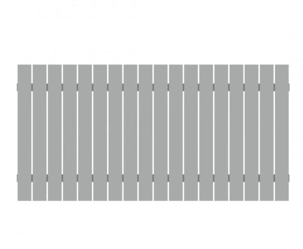 Sichtschutzzaun aus Aluminium 90x180cm, lichtgrau beschichtet