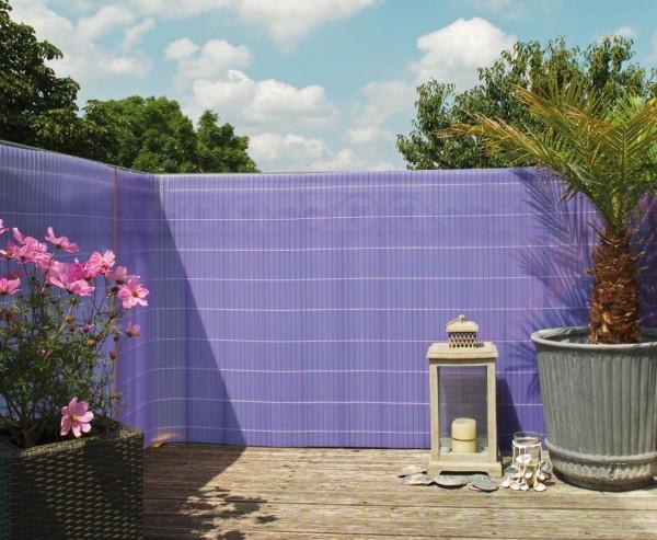 """Zaun Sichtschutz """"Sunshine"""" flieder transparent 140 x 300cm"""