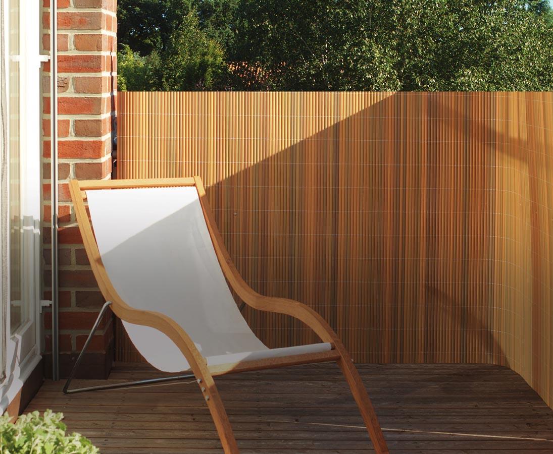 Balkon Sichtschutz Pvc 90x300cm Teak Farbig Einfach Bestellen