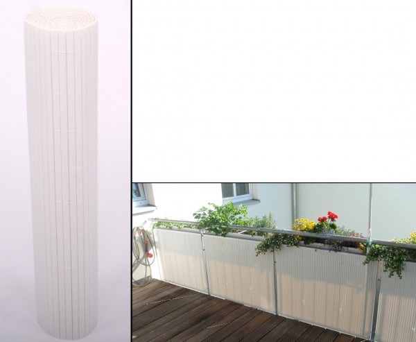 """PVC Matten """"Sylt"""" mit 100 x 300cm, weiss"""