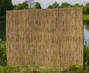Schilfplatten als ideale Alternative zu Gartenzaun und Co. - jetzt bei bambus-discount.com