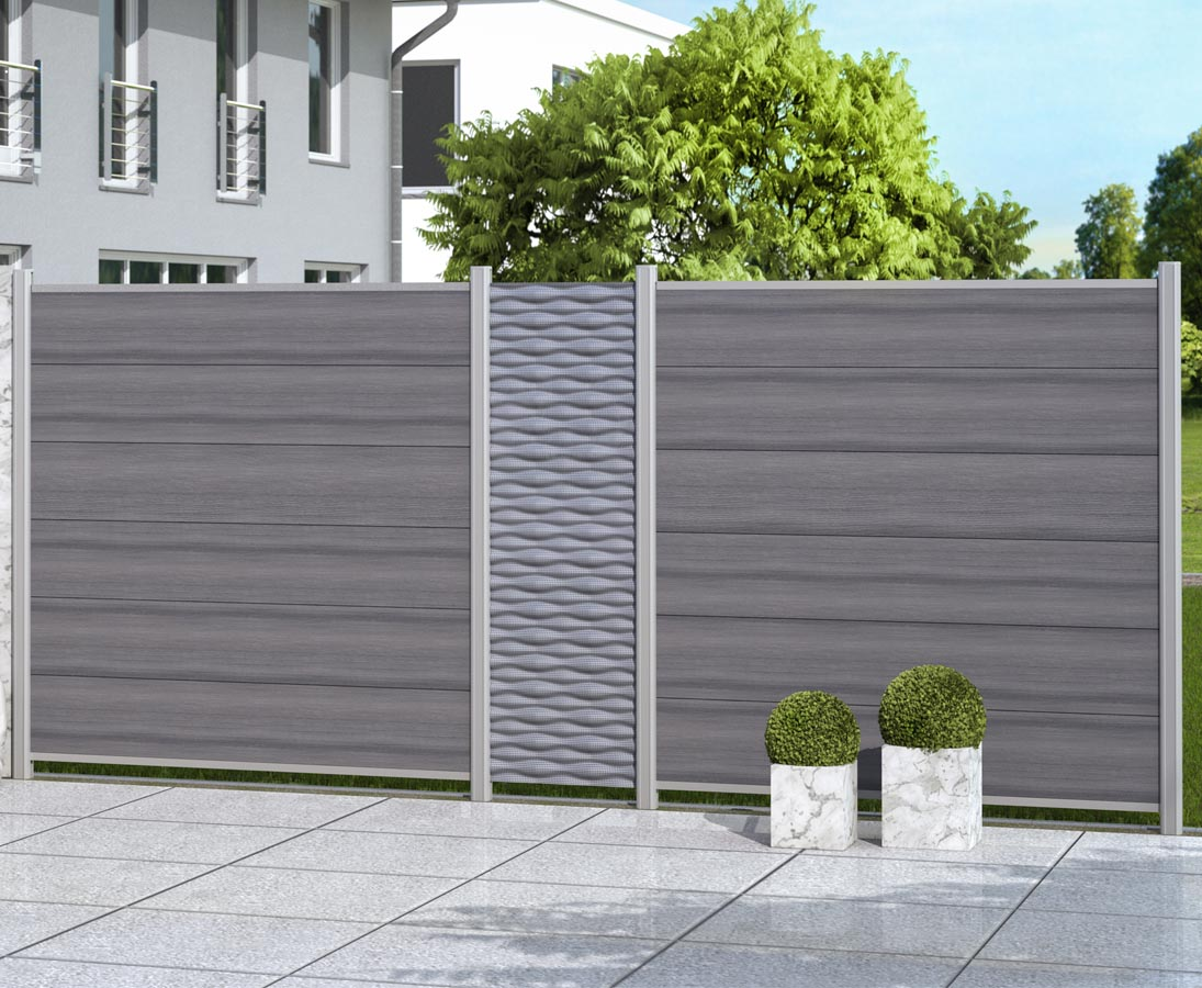 Zaunpfosten Fur Wpc Sichtschutz Silber 150cm Online Bestellen