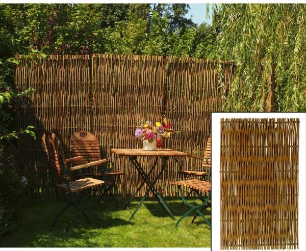 Weiden Sichtschutz, natur belassene Weidenruten, 180x120cm