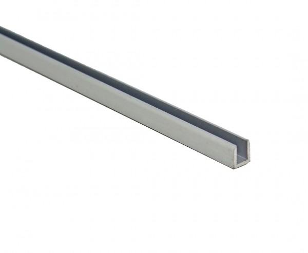 Alu Abdeckprofil nur für Kunststoffmatten in der eco Ausführung, Silber eloxiert