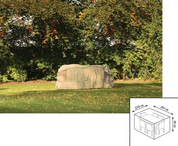 """Gartenmöbel Schutzhülle """"Cover"""", für Tischgruppe rechteckig, 80x210x295cm, beige-uni"""