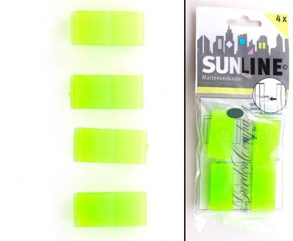 """Clip für Kunststoffmatten """"Sunshine"""" lemonengrün, 4 Stück"""