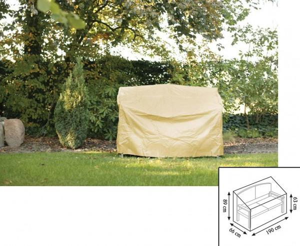 Schutzhülle Gartenmöbel, für Gartenbank, mit 63/89x66x190cm, beige-uni