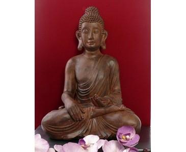 Buddha, sitzend, Abmessungen ca. 49 x 33,5 x 25cm, aus Polyresin Material