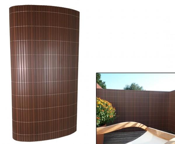"""Terrassen Sichtschutz PVC, """"Sylt"""" mit 140 x 300cm, nussbaum"""