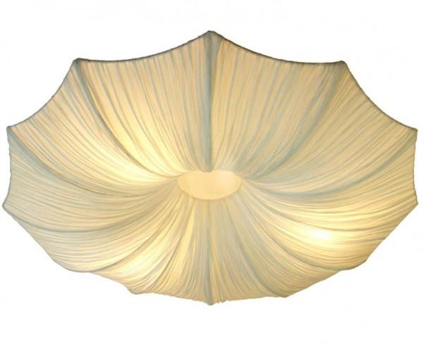 """Deckenlampe mit Seidenstoff Schirm """"Simona"""", Durch. 80cm"""