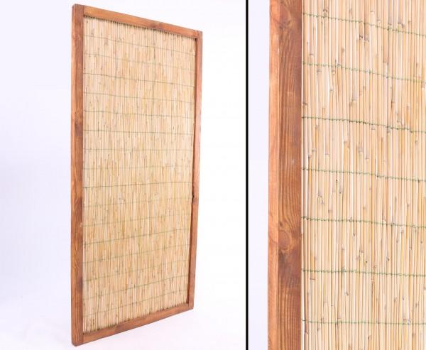 """Schilfrohr Sichtschutzwand 180 x 90cm """"Deluxe"""" gerahmt"""