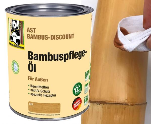 Bambus Pflegeöl hell für Außen mit UV Schutz, 0,75 Liter